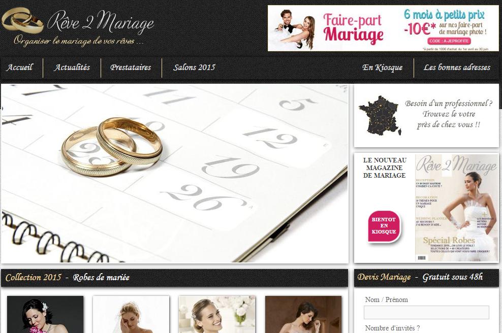 site du mariage